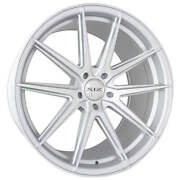 4ea 20 Staggered Xix Wheels Xf51 Silver Machined Flow Formed Rims S6