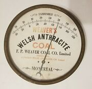 Welsh Anthracite Coal Co. Weaver's Canadian Advertising Thermometer - Working