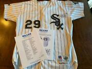 1993 Jack Mcdowell White Sox Game Worn Used Cy Young Baseball Jersey Mears 10