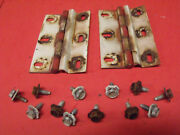 67 69 70 71 Jeepster Commando Dauntless 225 Rear Upper Hatch Lid Hinges + Bolts