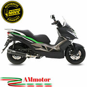 Full Exhaust System Mivv Kawasaki J300 2016 Motorcycle Scooter Stronger Black