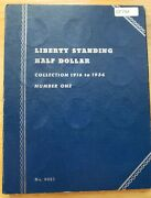 1916-1936 Liberty Standing Half Dollar Collection Book 2. 35 Coins Full Set