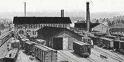 Postcard Early View Of Erie Railroad Shops In Kent Oh. Reprint  R1