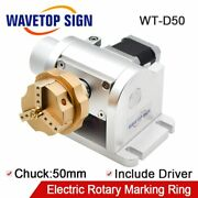 Chuck 50mm Rotary Shaft Rotating Device For Fiber Laser Marking Engraver Machine