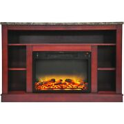 Cambridge 47.2x15.7x32.5 Seville Fireplace Mantel With Logs And Grate Inse...