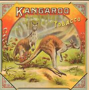 Vintage Tobacco Crate Shipping Labels Circa 1880s/90s Kanngaroo Tobacco-----1