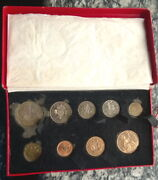 Great Britain 1950 George Vi Mint Proof Set Of 9 Coins