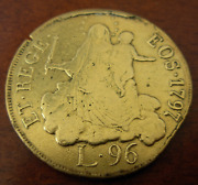 Italy Genoa 1797 Gold 96 Lire Jewelry Removed