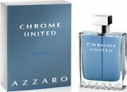 Chrome United By Azzaro Cologne For Men Edt 6.8 Oz 6.7 New In Box
