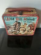 Vintage Wild Bill Hickok Lunchbox And Thermos - Tv Western 1955