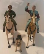 Vintage 1950andrsquos Hartland - Roy Rogers And Dale Evans - With Bullet