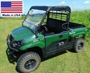 Roof And Hard Windshield Combo For Kawasaki Mule Pro Mx Fx Sx And Dx