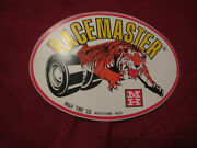 M And H Mandh Tire Company Watertown Mass Racemaster Tires Automotive Decal Sticker