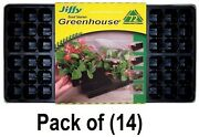 14 Pack Jiffy T72h 72 Cell Greenhouse Plant Seed Starter Tray Kit 11x22
