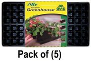 5 Pack Jiffy T72h 72 Cell Greenhouse Plant Seed Starter Tray Kits 11 X 22