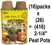 16 Ea Jiffy Jp226 26 Pack 2-1/4 Round Seed Starting Peat Pots