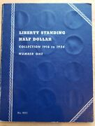 1916-1936 Liberty Standing Half Dollar Collection Book - 35 Coins Full Set