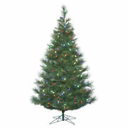 Vickerman 7.5and039 Norway Pine Artificial Christmas Tree With 375 Multi-colored C...