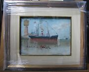 Antique Listed Richard Dey De Ribcowsky Oil On Carton Port Painting Signed