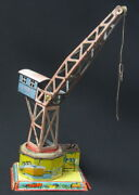 Rare Antique German Drp Litho Tin Wind Up Working Crane Gely No. 192 Germany