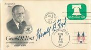 Gerald R. Ford Signed First Day Cover Autograph Auto Psa/dna Ah50256