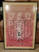 Aagpbl Print Autographed Signed By 60 Nice And Rare 1 Of 1 Rockford Peaches
