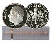 1993-s Proof Roosevelt Dime Roll 50-coin Clad