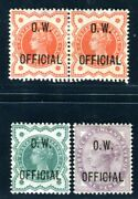 Gb Dienst 1896 Sg O31-33 Ow Official Very Fresh And Fine Sg 1675 Pound Z3719