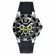 Ingersoll 3221bk Men's Brazos Auto Limited Edition Black Rubber White Dial Watch