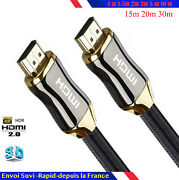 Cable Hdmi 2.0 4k 60hz Ultra Full Hd 2160p 3d Hdr 18gb 1/15/2/5/10/15/20/30 M O
