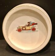 Vintagebaby Plate Automobile Couple Driving Edwin M. Knowles China Co.neat