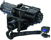 Kfi 2500 Stealth Series Winch Black Synthetic Cable Offroad Adventure Atv