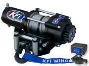 Kfi 2000lb Steel 12v Winch Black 47and039 Cable Switch Kit Offroad Adventure Atv