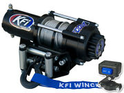 Kfi 3000lb Steel 12v Winch Black 45and039 Cable Switch Kit Offroad Adventure Atv