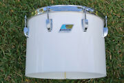 1970and039s Ludwig Chicago 14 White Vistalite Concert Tom For Your Drum Set E764