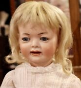 Antique 20 German Bisque Kley Hahn 554 Child Doll W/ Perfect Bisque And Orig Body