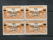 Newfoundland C18 Extra Fine Never Hinged Block With Certificate