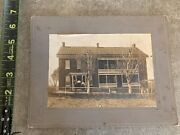 Antique 1906 Cabinet Card Photograph Pennsylvania House Near Hagerstown Md
