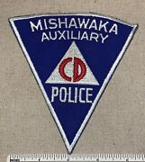 Vtg 1950s Mishawaka Auxiliary Police Department Badge Patch Civil Defense Cd