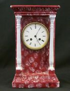 Antique Bordier 3573 French Clock In China Case. S. Marti Bronze Medal. Works