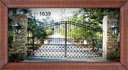 On Sale Driveway Gate 1639 14and039 Ft Wd Steel - Cast Inc Post Pkg Home Security