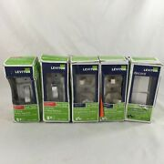 Lot Of 5 Leviton Light Switches In Open/damaged Packages 15a-20a 3 Types-deal