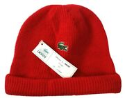 Vintage Chemise Lacoste Wool Beanie Red Nos Tags 80s Rouge Olivier L New Supreme