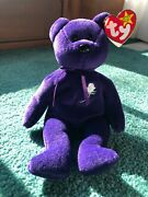 Ty Princess Diana Beanie Baby Rare 1997 1st Edition Made In China P.e. Pellets