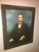 Antique 1800's Darro Rendering Print Of Abraham Lincoln
