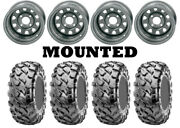 Kit 4 Maxxis Coronado Tires 25x8-12/25x10-12 On Itp Delta Steel Silver Can