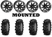 Kit 4 Itp Cryptid Tires 27x10-14 On Quadboss Fury Machined Wheels Can