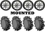 Kit 4 High Lifter Outlaw 3 Tires 35x9-20 On Sti Hd10 Machined Wheels Can