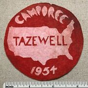 Vintage 1954 Tazewell Boy Scouts Of America Felt Camporee Patch Bsa Camp 1950s