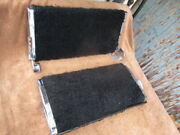 1938 - 1948 Pair Of Rear Seat Padded Flip Over Foot Rests